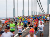 NEW YORK, NY - NOVEMBER 01:  Runners cross the Verrazano-Narrows Bridge at the start of the TCS New York City Marathon on November 1, 2015 in New York City.  (Photo by Mike Stobe/Getty Images)
